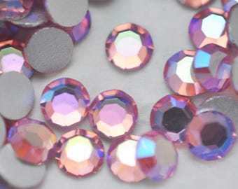 Preciosa Flat Back 30SS Crystals, Light Rose, Half a Gross, Czech Crystal, NO HOTFIX, Titania MC ChatonRoses