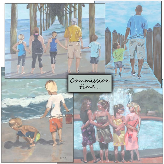 Custom painting, special order, impressionistic style, 16x20 inch personal piece of art, holiday special pricing, commission work