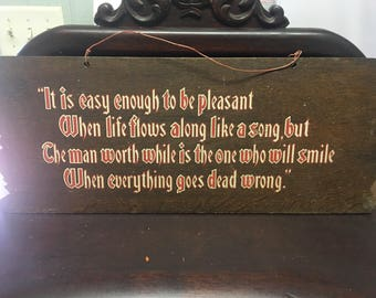 Vintage wooden painted sign