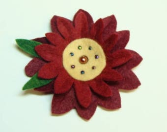 Burgandy Flower Kit DIY- Makes 1 Flower