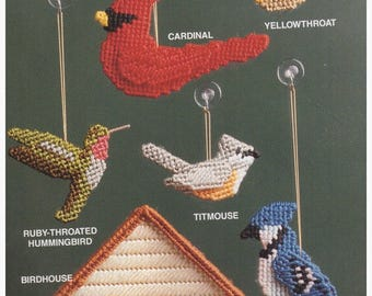 Plastic Canvas Pattern, Plastic Canvas Vintage Pattern, Plastic Canvas Bird Pattern