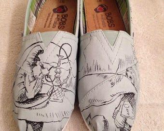 Alice in wonderland custom Toms / bobs