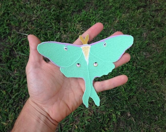 Luna Moth Patch / Actias Luna / Embroidered Patch