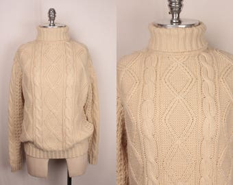 15 DOLLAR SALE // 80s fisherman sweater // soft and slouchy