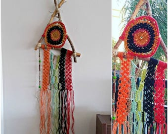Dreamcatcher Wall Hanging Macrame, Ethnic Macrame Wall Art, Boho Dreamcatcher Wall Hanging, Woven Wall Tapestry, Dream Catcher Wall Hanging