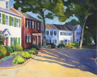 Around the Bend Large Original Landscape Painting on Canvas