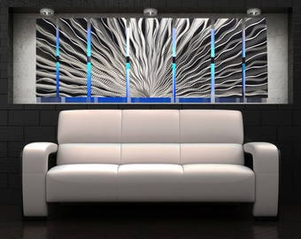 Modern Abstract Large Metal Wall Panels Art Sculpture Color Changing RGB LED Painting Decor Aluminum