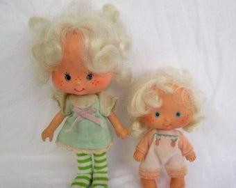 SALE 20% OFF Vintage Angel Cake and Apricot Dolls From Strawberry Shortcake collection, 1979 American Greetings