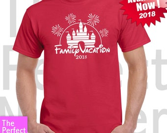 Disney Family Vacation Castle Fireworks Matching T-shirt  2018 Disney Parks