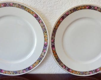 Hutschenreuther Bavaria Floral and Fruit China Plates