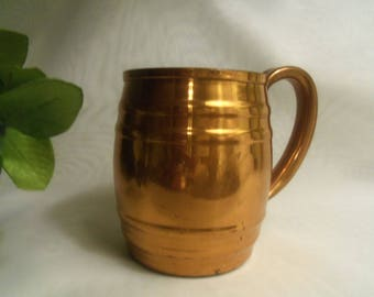Gorgeous Vintage Rare American Made Genuine COPPER MOSCOW MULE Drink Cup Mug Stein- Birthday Gift Her Him Boyfriend Husband Dad Girlfriend