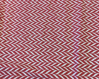 Schumacher designer curtain fabric Dudley in berry 2.7 metre piece
