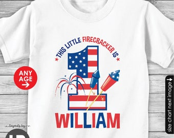 4th of July Birthday Shirt or Bodysuit - Personalized 4th of July Shirt - Memorial Day Birthday Shirt