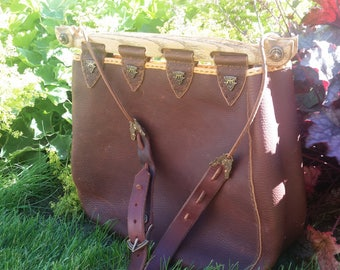 Large Leather Hedeby bag