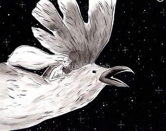 Raven Flight - Inktober 2017