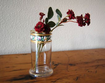 Vintage Floral Glass Drinking Glass Vintage Floral Glass Vase from The Eclectic Interior