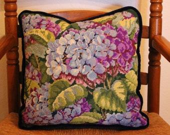 Blue Flowered pillow