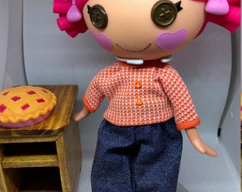 Handmade Pant Set for Lalaloopsy Doll // Full Size Big Sister // Doll Clothes // Stocking Stuffer // Under 10 // For Girls // Blue Jeans 2