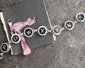 Typewriter Key Bracelet b...