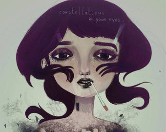 Constellations in you eyes... A5, A4 or A3 art print