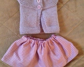 American Girl sweater and skirt