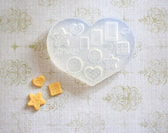 Dollhouse Miniature Mold- Lovely Biscuit Set