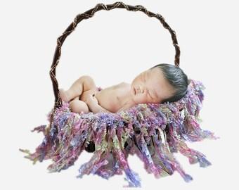 Diameter=40cm+15cm Handcraft Acrylic Eyelash Style Round Blanket Photography Props for Newborn