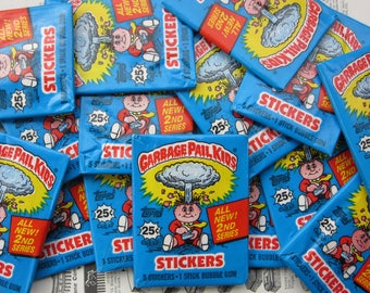 Rare Series 2 Garbage Pail Kids Vintage 2nd Series Price Per Pack Sticker Cards Topps 1985 Unopened Pack OS GPK Trading Cards 1980s VTG