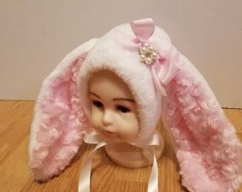 Bunny Sitter Bonnet, Sitter Bonnet, Easter Bonnet, Photography Prop, Homemade
