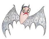Lacy Bat print