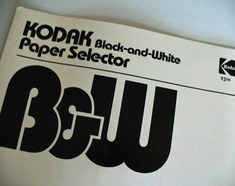 Kodak Publication Darkroom Black & White Paper Selection Guide Library Reference Material Catalog