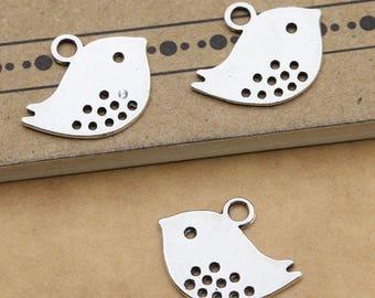 Set 10 Tibetan Silver Bird  Charm Lot DIY pendant