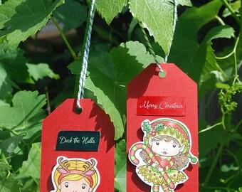 Handmade Christmas Gift Tags Sunny Christmas Marci Christmas Elf Marci La-La Land | perfect to label your Christmas gifts | On sale 20% off