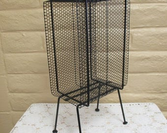 Vintage Metal Telephone Stand - Atomic Phone Stand - MCM Telephone Stand