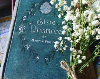 Antique Elsie Dinsmore Hardcover Book by Martha Finley