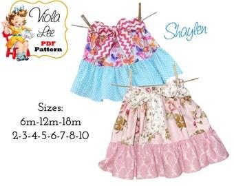 Shaylen Toddler Sewing pattern, Ruffle Twirl Skirt Pattern. Girls Skirt Pattern. pdf Sewing Pattern, Ruffle Skirt Pattern  INSTANT DOWNLOAD