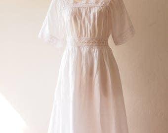 Madeline Dress Lace Victorian Dress Women Halloween Costume Halloween Dress White Boho Dress Beach Long Dress