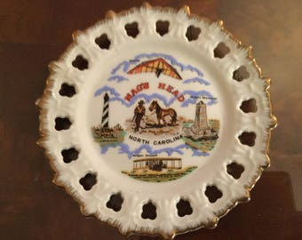 Vintage NAGS HEAD North Carolina Reticulated Collector PLATE