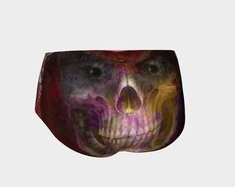 Paisley Skull Mini Shorts - for those seeking the unusual