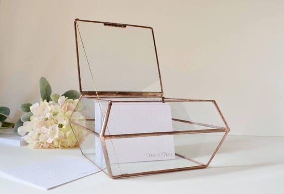 Wedding card box glass