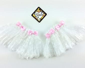 White Lace Wrist Cuff-Lolita Wrist Cuff- Wrist Cuff-Classic Lolita-Harajuku-Gift For Her-Fairy Kei-Cult Party Kei-Hime