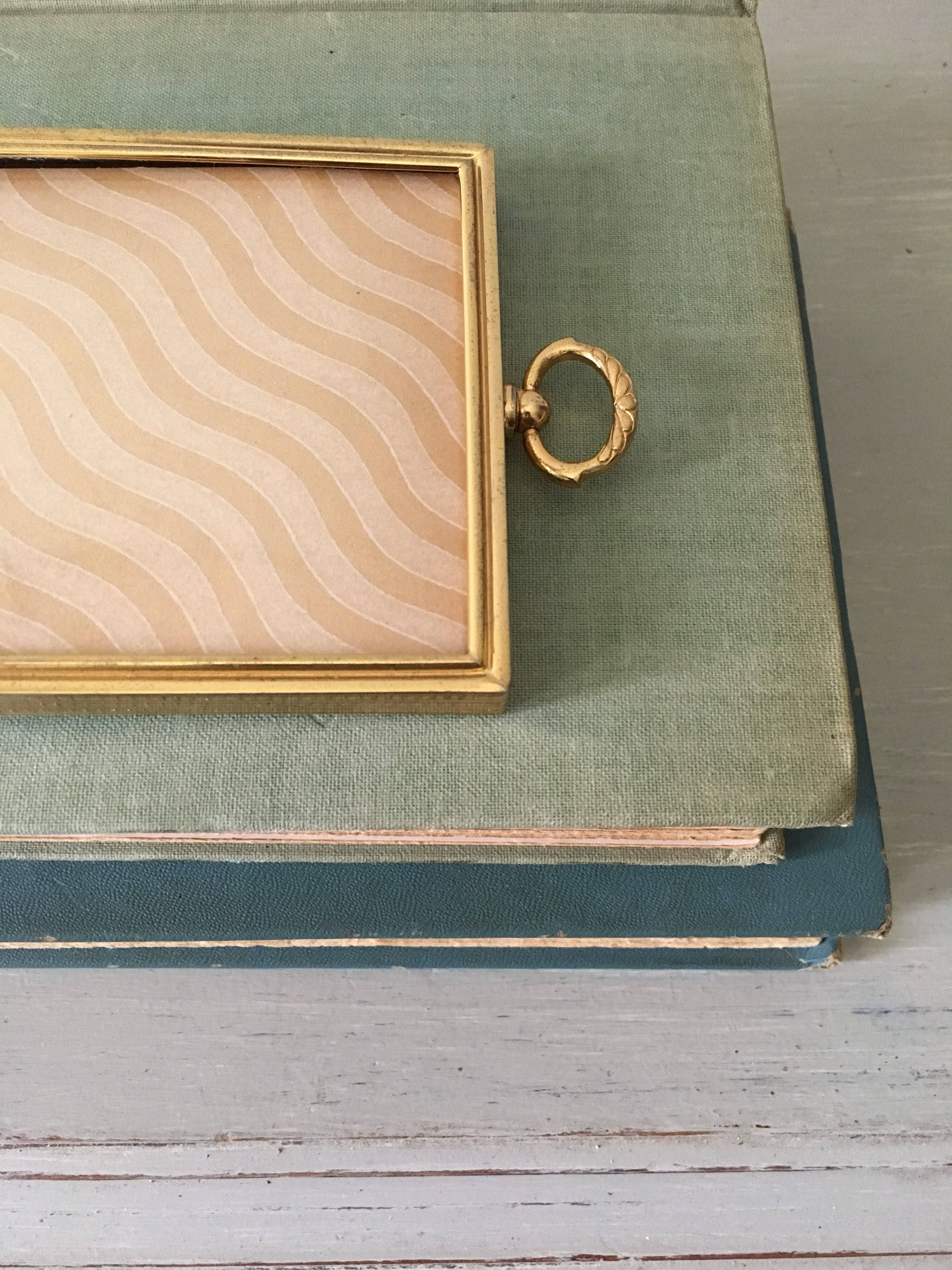 Small vintage picture frame 325x425 lovely gold toned metal with sold by myvintagepastlife jeuxipadfo Image collections