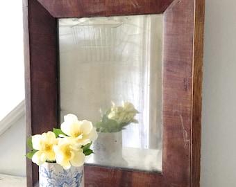 Vintage Mirror Wood Frame Rustic