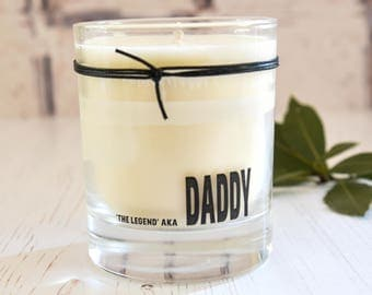 Dad, The Legend, Fragranced Candle, Gift For Dad, Candle Gift, Glass Candle, Daddy Gift, Fathers Day Gift , Gift For Him, Birthday Gift Dad