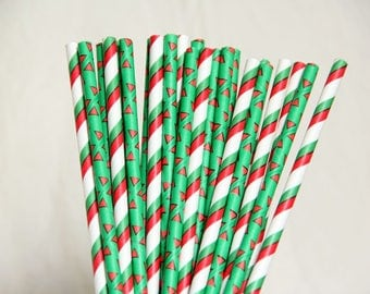 Striped And Triangle Mix Paper Straws/Christmas Party Straws/Wedding/Party Decor/Cake Pop Sticks/Mason Jar Straws/Party Supplies
