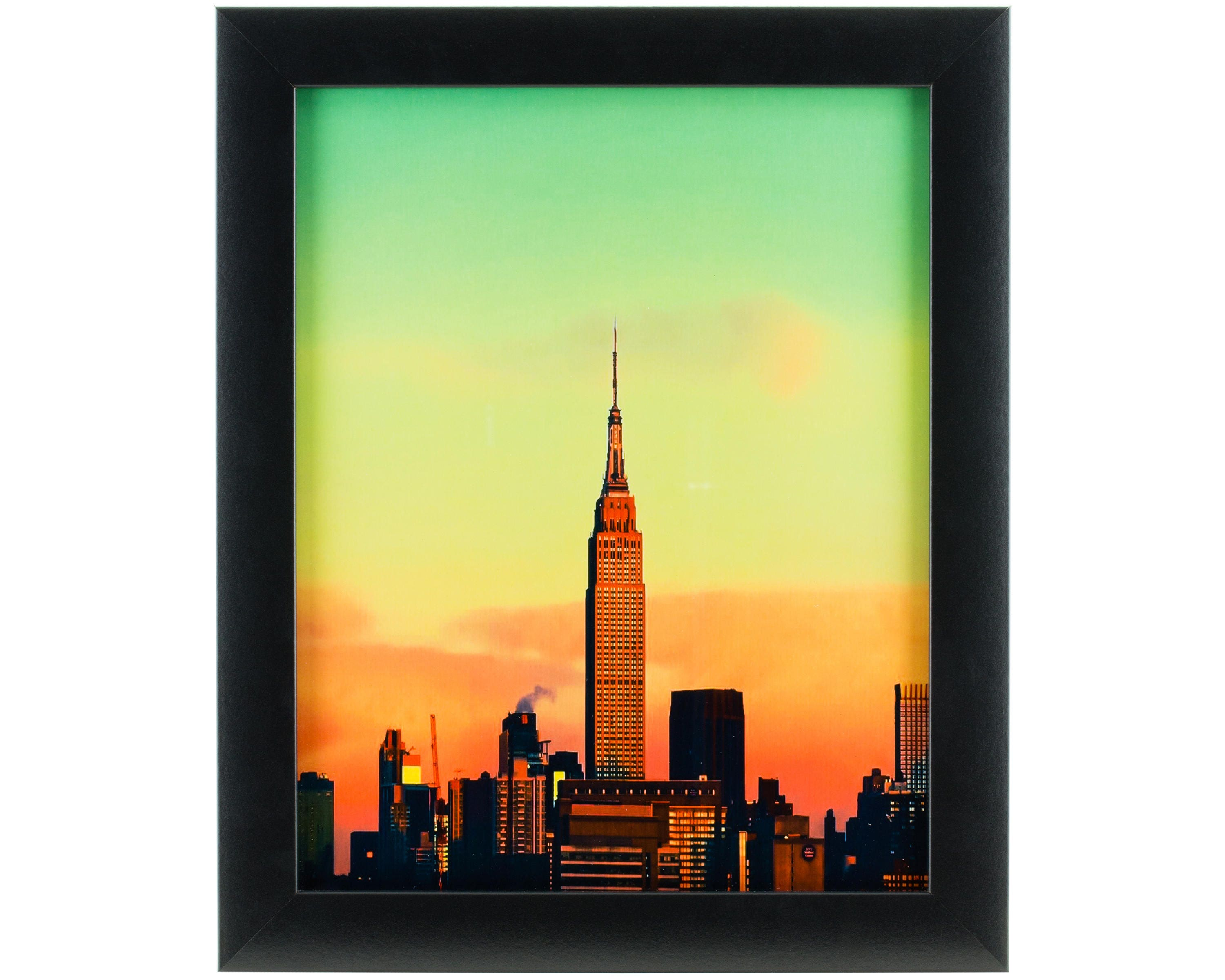 Craig frames 6x6 inch modern black picture frame for Modern house 6x6