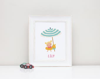 Digital Personalized Art Print for Children's Room