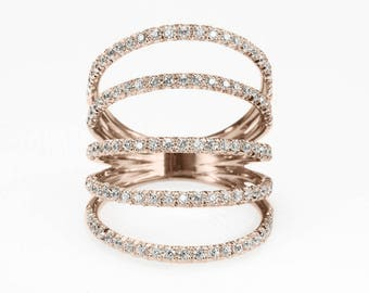 Diamond Skin Ring, Diamonds Shield Lace Diamond Ring, handmade by Silly Shiny Diamonds, wide diamond ring, anniversary diamond ring