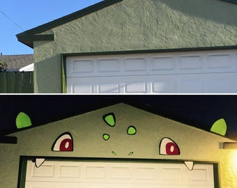 Garage door decorative Pokémon Bulbasaur kit