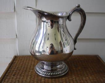 silver pitcher, W. & S. Blackinton silver pitcher, vintage silver pitcher